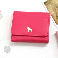 New Coin Bill Credit Business Card Case Holder Pocket _ DONBOOK Pony Wallet D
