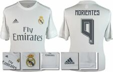 *15 / 16 - ADIDAS ; REAL MADRID HOME SHIRT SS / MORIENTES 9 = KIDS SIZE*