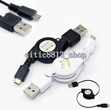 New Micro USB A to USB 2.0 B Male Retractable Cable Data Sync Charger Cord Great
