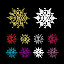 10cm Glitter Snowflake Christmas Tree Hanging Decorations