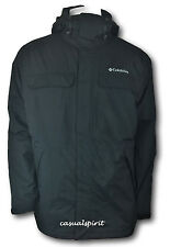 New Columbia mens waterproof Omni Tech insulated hooded jacket coat Black