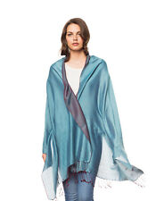 Silk Microfiber Two-Tone Nepalese Water Shawl Scarf Wrap INVISIBLE WORLD