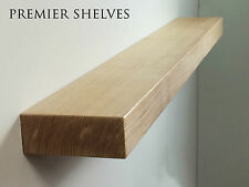 SOLID OAK FLOATING SHELF FIREPLACE MANTEL MANTLE BEAM WALL SHELVES 5 x 2.5 INCH