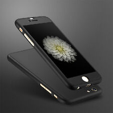 Full Body Luxury Hybrid Hard Case Cover + Tempered Glass For iPhone 6 6S Plus