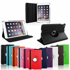 360 Rotating PU Leather Case Smart Cover Swivel Stand For Apple iPad Mini 4 2015
