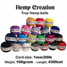 40True Hemp balls - HEMP CREATION - 20lb/1mm  or 10lb/0.5m  - 100gram each