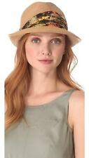 Eugenia Kim Max Toyo Fedora Floral Sash Camel 1005-2177 Medium NEW Hat