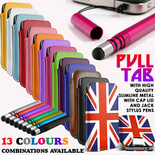 Pull Tab Flip Pouch Sleeve Phone?Metal Stylus Pen for HTC One M9