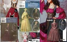 Simplicity Sewing Pattern Renaissance Costume Civil War SCA LARP You Pick