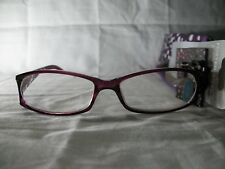 Foster Grant Dazzle Purple Polka Dot Reading Glasses w/ Carrying Case +2.00 2.75