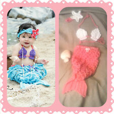 Baby Mermaid Outfit, crochet, halloween, costume, photo, prop set, shower gift H