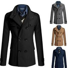 Hot Mens Double Breasted Coat Suit Slim Casual Jacket Outwear Coat XG