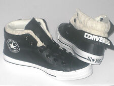 Unisex CONVERSE CT PC SIDE ZIP MID Black Leather Trainers 136363C UK 5.5 EUR 38