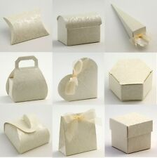 Luxury DIY Wedding Party Favour Gift Sweet Boxes - Ivory Diamante Range