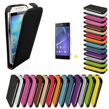 Sony Xperia Z2 Flip Cover Synthetic Leather Bag Case Bumper Mobile Phone Case