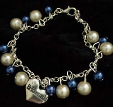 WEDDING PEARL CHARM BRACELET IVORY & ANY COLOUR GIFT BOX WEDDING JEWELLERY