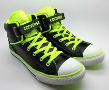 Juniors CONVERSE CT PC LOOPBACK Black Leather Trainers Shoes 641704C