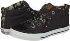 Juniors New CONVERSE CT STREET MID Canvas Black Trainers 640491F