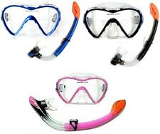 ST - SILICON ADULT MASK AND SNORKEL black red pink snorkelling swimming diving