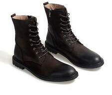 Mens Ankle Boot Lace Up chukka Motorcycle Military Roma Punk Work Casual Shoes