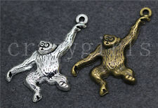 6/30/150pcs Tibetan Silver Lovely Monkey Jewelry Finding Charms Pendant 36x23mm