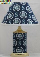 MLB SEATTLE MARINERS MATCHING LAMP & SHADE SET! SHIPS WITHIN 24 - 48 HOURS!