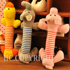New Funny Dog Puppy Toy Squeaker Sound Toy Plush Carton Duck Pig & Elephant Toys