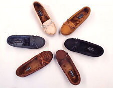 New Women Fur Moccasin Warm Round Toe Flats Shoes Size 5-10