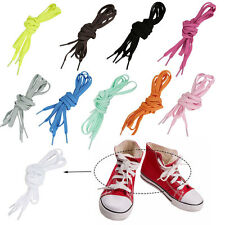 3/5 Pairs Shoelaces Coloured Flat Fat Round Bootlace Sneaker shoe laces 129.5cm