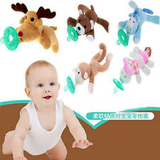 Baby Silicone Pacifiers with Plush Animal Toy Personalized Funny Pacifier Baby