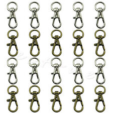 10Pcs Swivel Trigger Clips Snap Hooks Lobster Clasp Keychain Bag Craft DIY Key
