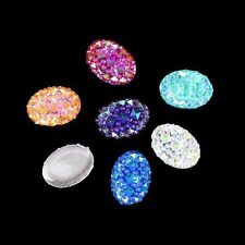 13*18mm 100p Oval Flatback Resin Rhinestone Stone Bead DIY Scrapbooking Crafts