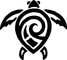 Tribal - Turtle - Car Window Laptop Vinyl Decal Sticker