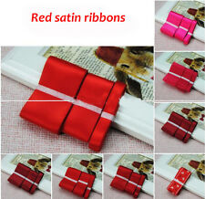 3pcs Different Width Wedding Party Craft Double Sided Satin Ribbons ManyColor N