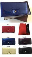 New Arrival Women Ladies Patent Leather Coin Purse Wallet Card Holder Organiser