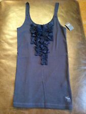HOLLISTER / ABERCROMBIE WOMEN'S TANK CAMI TOPS CHOOSE NAVY BLUE,GREY, TAN L NEW