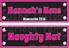 Personalised Hen Party/Do Iron on Front & Back T-shirt Transfer set (6.5 x 20cm)