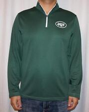 NWT Majestic New York Jets Mens 1/4 Zip Lightweight Therma Base Sweatshirt