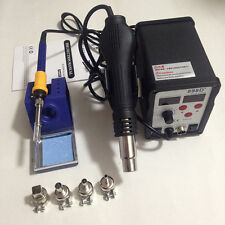 Hot Air Gun Iron Welder LCD Display 898D+ SMD Rework Soldering Station 110V/220V