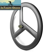 Carbon Bike Tri Spoke Wheel Track Road Bike Wheel 3 Spoke Wheel Clincher Wheel