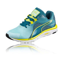 Puma FAAS 500v4 Womens Green Blue Cushioned Running Sports Shoes Trainers