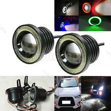 "2x 30W 3.5"" Car COB LED DRL Projector Work Light Driving Fog Lamp With Angel Eye"