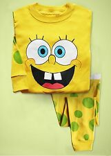 """Spongebob"" Baby  Toddler Clothing Kids Boys Pajamas  Sleepwear  Set 2-7T"