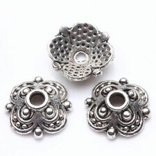 50-200 Tibet Silver Plated Flower Spacer Bead Caps Jewelry Making DIY 8x3/10X3mm