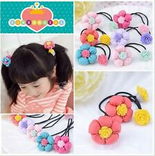 Lovely Girls Flower Elastic Hair Tie Band Ponytail Rope Hairtie