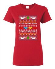 Ladies Star Travel Ugly Christmas Comic Space Movie Parody Funny DT T-Shirt Tee