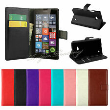 Premium PU Leather Wallet Case Stand Cover Card Pouch For Nokia Lumia 640 640XL