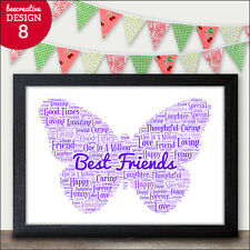 Friendship Best Friend Personalised Print Gift Present Sister Mum Daughter Niece