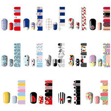 Nail Art Self Adhesive Polish Foil Decal Wrap Sticker Manicure Decor DIY 14Style