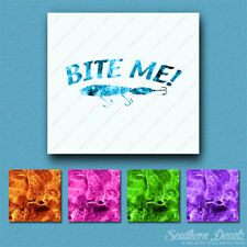 Bite Me Fishing Lure - Vinyl Decal Sticker - Multiple Flames & Sizes - ebn802